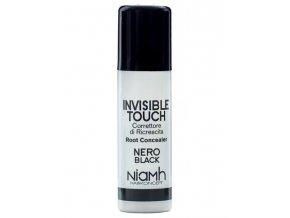 NIAMH HairKoncept BLACK Invisible Touch Root Concealer 75ml - korektor ve spreji - černý