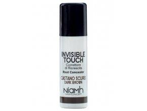 NIAMH HairKoncept DARK BROWN Invisible Touch 75ml - korektor ve spreji - tmavě hnědý