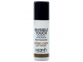 NIAMH HairKoncept LIGHT BROWN Invisible Touch 75ml - korektor ve spreji - světle hnědý