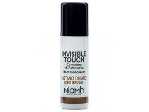 NIAMH HairKoncept LIGHT BROWN Invisible Touch 75ml - korektor ve spreji - světle hnědý