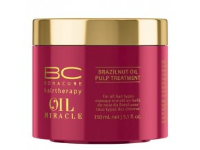 SCHWARZKOPF BC Oil Miracle Brazilnut Oil Pulp Treatment 150ml - reg. maska barvené vlasy
