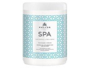 KALLOS SPA Masage Cream 1000ml - masážní tělový krém s kokosovým olejem