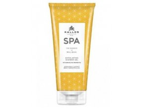 KALLOS SPA Orange Oil Exfoliating Shower Gel 200ml - peelingový sprchový gel