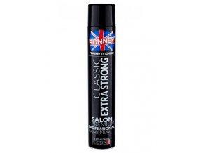 RONNEY London Classic Extra Strong Hair Spray 750ml - rychleschnoucí extra silný lak na vlasy
