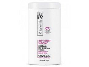 BLACK Pomůcky Wipes To Remover Colour 100ks - čistící ubrousky k odstranění barvy z pokožky