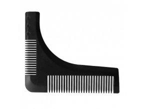 DUKO Hřebeny 6351n - pánský hřeben na vousy - černý