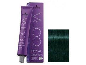 SCHWARZKOPF Igora Royal Fashion barevný melír 60ml - Matná tmavě zelená Extra L-33
