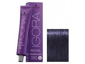 SCHWARZKOPF Igora Royal Fashion barevný melír 60ml - Popelavá tmavě modrá Extra L-22
