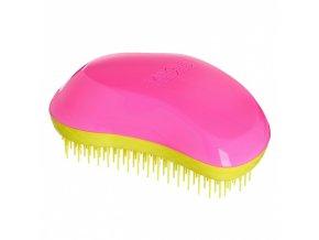 TANGLE TEEZER Original Pink Rebel - profi kartáč na rozčesávání vlasů - růžovo žlutý