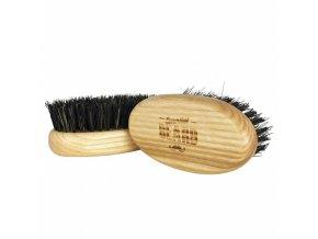 BEARD Essential Brush Oválný kartáč na vousy, přírodní žíně z divočáka - 87x46x37mm