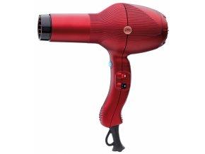 GAMMA PIÚ 5555 Turbo Tormalionic 2400W - extra výkonný profi fén na vlasy - červený