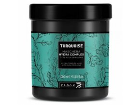BLACK Turquoise Hydra Complex Mask 1000ml - maska na jemné vlasy s extrak. z Algae