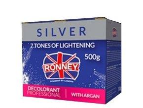 RONNEY Silver Decolorant Argan 500g - profi melírovací prášek s arganem