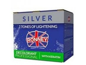 RONNEY Silver Decolorant Keratin 500g - profi melírovací prášek s keratinem