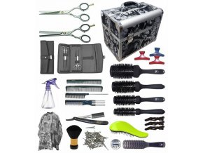 STAR kufr Jaguar Kadeřnický set pro učně - hliníkový kufřík s vybavením pro praváky