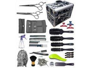 STAR kufr Kansai Kadeřnický set pro učně - hliníkový kufřík s vybavením pro praváky