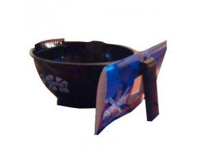 RONNEY Kadeřnická miska na barvu černá se zoubky k otírání štětce