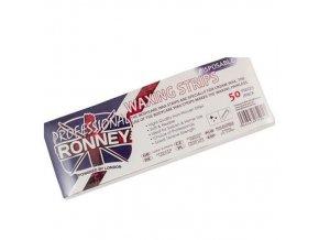 RONNEY Professional Waxing Strips 50 - depilační papírky - hladké 50ks