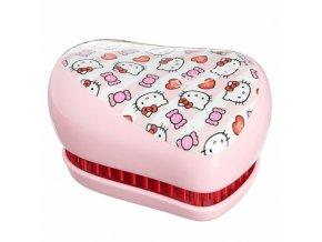 TANGLE TEEZER Compact Hello Kitty Candy Stripes - limitovaná edice kompaktního kartáče