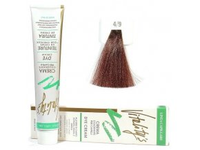 VITALITYS Green Permanentní krémová barva na vlasy - Leather kůže 4-9