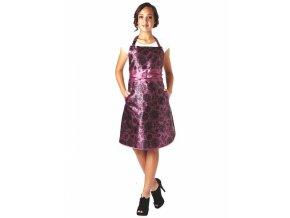 OLIVIA GARDEN Lace Apron Plum luxusní kadeřnická zástěra - švestková