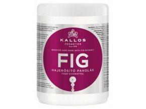 KALLOS KJMN Fig Hair Mask 1000ml - maska na slabé vlasy a roztřepené konečky