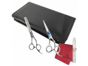 OLIVIA GARDEN Nůžky Sada nůžek Xtreme v pouzdře - nůžky XT-500 + efilačky XT-635