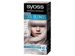 SYOSS 4Levels Cool Blonds 10-55 Ultra platinová blond barva - zesvětlí a obarví