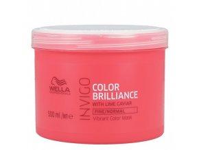 WELLA Invigo Color Brilliance Fine Vibrant Color Mask 500ml - kúra pro jemné barvené vlasy