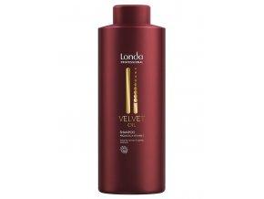 LONDA Velvet Oil Argan Oil Shampoo 1000ml - revitalizační šampon s arganovým olejem