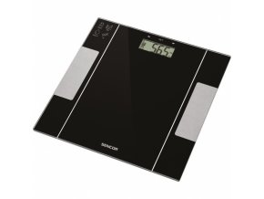 SENCOR SBS 5050BK Fitness váha s měřením tělesného tuku, vody a výpočtem kalorií - černá