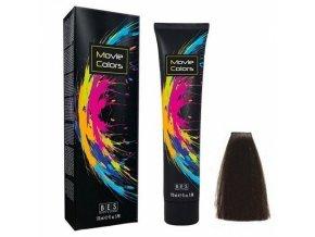 BES Movie Colors 3.0 Dark Brown - gelová barva na vlasy bez amoniaku 170ml - tmavě hnědá