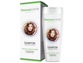 DonnaHAIR PERFECT Regenerační šampon na poškozené vlasy se sklonem k třepení a lámání 200ml