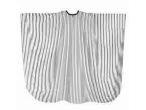 SALON KOMPLET Barber - velká pánská stříhací pláštěnka - šedé pruhy