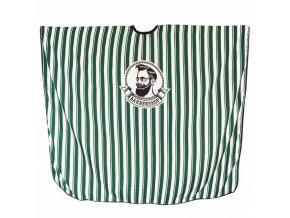 SALON KOMPLET Barber Shop - pánská stříhací pláštěnka se zelenými pruhy - extra velká