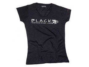 BLACK Women L Dámské černé tričko s potiskem Black Parisienne - velikost L