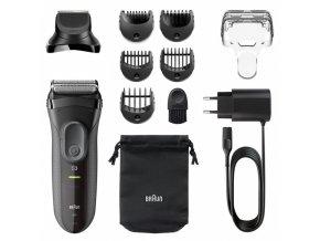 BRAUN Series 3-3000BT Smooth Skin and Style - pánský holící a zastřihávací strojek 3v1