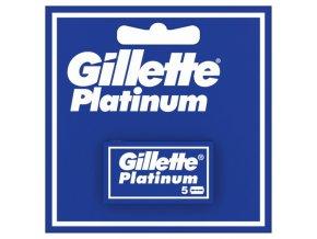 GILLETTE Platinum - klasické oboustranné žiletky 5ks - 1balení