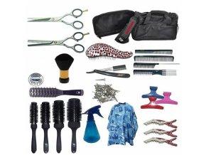 EKONOM Jaguar Kadeřnický set pro učně - textilní taška s vybavením pro praváky