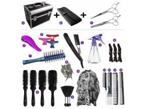 ALU kufr Kansai Kadeřnický set pro učně - hliníkový kufřík s vybavením pro praváky