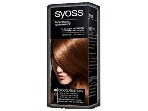 SYOSS Professional Permanentní barva na vlasy 4-8 Chocolate Brown - čokoládově hnědá