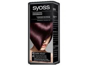 SYOSS Professional Permanentní barva na vlasy Dark Violet - tmavě fialová 3-3