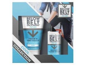 BELOW THE BELT COOL SET - dárková sada pro pánskou intimní hygienu