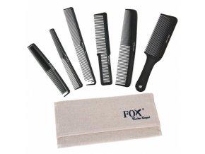 FOX Barber Expert Sada profesionálních hřebenů na vlasy - lněné pouzdro