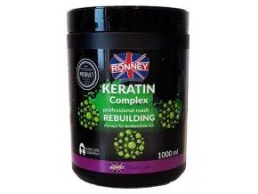 RONNEY Keratin Complex Mask 1000ml - maska s keratinem pro slabé a křehké vlasy