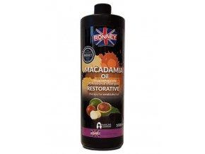 RONNEY Macadamia Oil Shampoo 1000ml - šampon pro slabé a suché vlasy