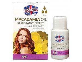 RONNEY Macadamia Oil 15ml - regenerační olej pro slabé a suché vlasy