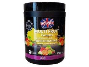 RONNEY Multifruit Complex Mask 1000ml - regenerační maska na suché vlasy