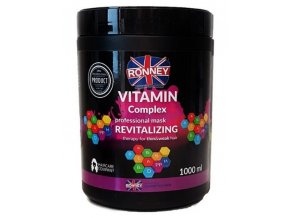 RONNEY Vitamin Complex Mask 1000ml - revitalizační maska na tenké a slabé vlasy