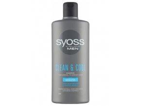 SYOSS MEN Clean And Cool Shampoo 440ml - šampon pro muže na mastné vlasy